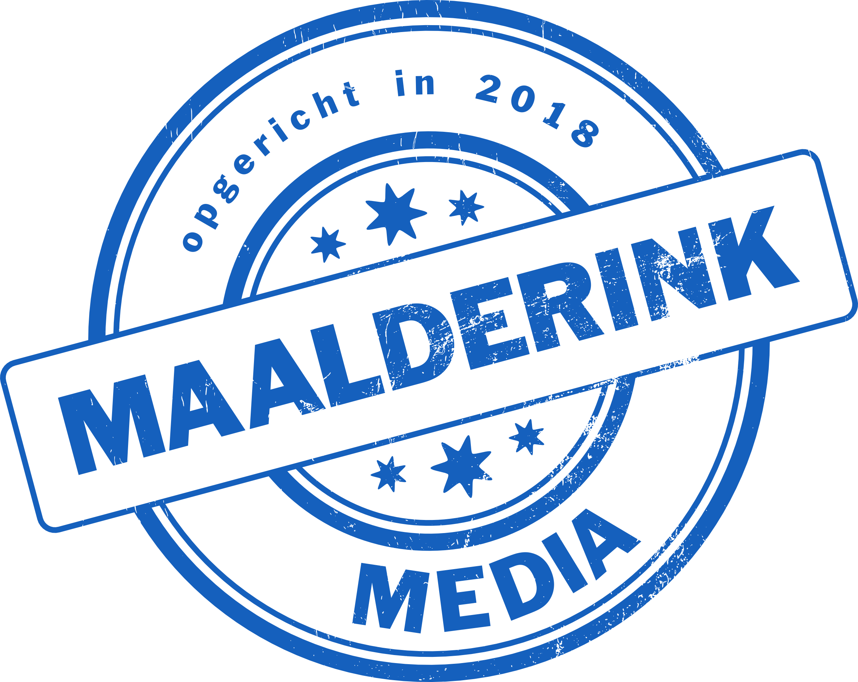 logo Maalderink media Drempt, Het Slag 1, 6996 BG Drempt, telefoon 06-54106263, e-mail info@maalderinkmedia.nl